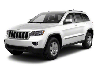 Bright White 2013 Jeep Grand Cherokee Pictures Grand Cherokee Utility 4D Laredo 4WD photos front view