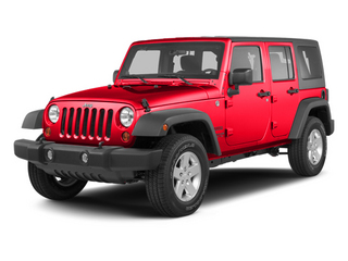 Flame Red 2013 Jeep Wrangler Unlimited Pictures Wrangler Unlimited Utility 4D Unlimited Sahara 4WD photos front view