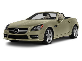 Pearl Beige Metallic 2013 Mercedes-Benz SLK-Class Pictures SLK-Class Roadster 2D SLK55 AMG photos front view
