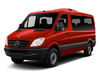 Flame Red 2013 Mercedes-Benz Sprinter Passenger Vans Pictures Sprinter Passenger Vans Passenger Van High Roof photos front view