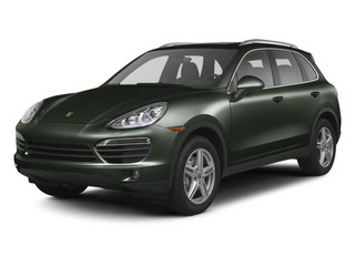 Jet Green Metallic 2013 Porsche Cayenne Pictures Cayenne Utility 4D AWD (V6) photos front view