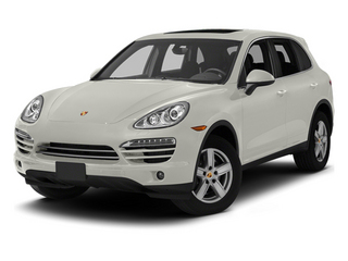 White 2013 Porsche Cayenne Pictures Cayenne Utility 4D Diesel AWD (V6) photos front view