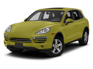 Peridot Metallic 2013 Porsche Cayenne Pictures Cayenne Utility 4D Diesel AWD (V6) photos front view