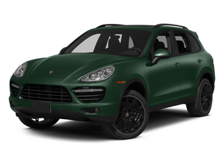 Jet Green Metallic 2013 Porsche Cayenne Pictures Cayenne Utility 4D Turbo AWD (V8) photos front view