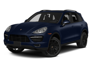 Dark Blue Metallic 2013 Porsche Cayenne Pictures Cayenne Utility 4D Turbo AWD (V8) photos front view