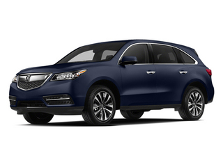 Fathom Blue Pearl 2014 Acura MDX Pictures MDX Utility 4D Technology DVD 2WD V6 photos front view