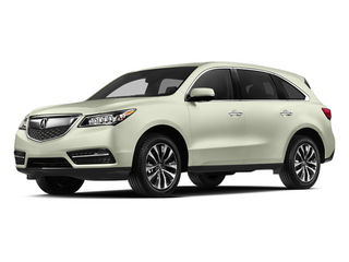White Diamond Pearl 2014 Acura MDX Pictures MDX Utility 4D Technology DVD 2WD V6 photos front view