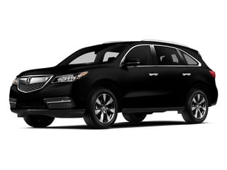 Crystal Black Pearl 2014 Acura MDX Pictures MDX Utility 4D Advance DVD 2WD V6 photos front view