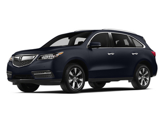 Fathom Blue Pearl 2014 Acura MDX Pictures MDX Utility 4D Advance DVD 2WD V6 photos front view