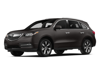 Graphite Luster Metallic 2014 Acura MDX Pictures MDX Utility 4D Advance DVD AWD V6 photos front view