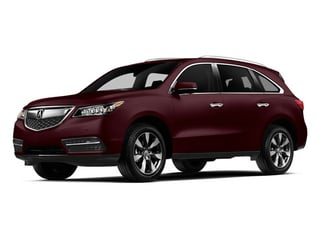 Dark Cherry Pearl 2014 Acura MDX Pictures MDX Utility 4D Advance DVD AWD V6 photos front view