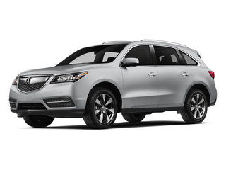 Silver Moon 2014 Acura MDX Pictures MDX Utility 4D Advance DVD AWD V6 photos front view
