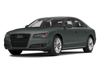 Monsoon Gray Metallic 2014 Audi A8 Pictures A8 Sedan 4D 4.0T AWD V8 Turbo photos front view