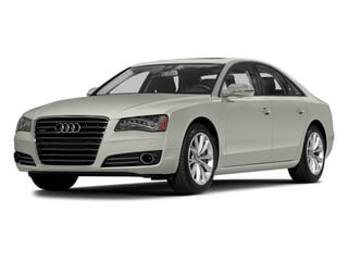 Ibis White 2014 Audi A8 Pictures A8 Sedan 4D 4.0T AWD V8 Turbo photos front view
