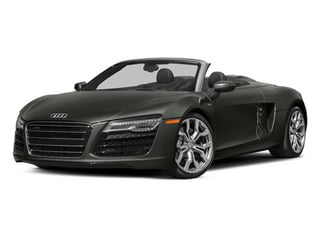 Daytona Gray Pearl Effect/Black Roof 2014 Audi R8 Pictures R8 2 Door Convertible Quattro Spyder V8 (Manual) photos front view