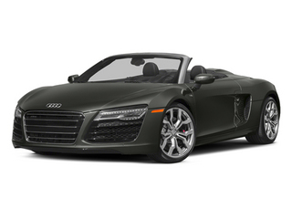 Daytona Gray Pearl Effect/Black Roof 2014 Audi R8 Pictures R8 2 Door Convertible Quattro Spyder V8 (Auto) photos front view