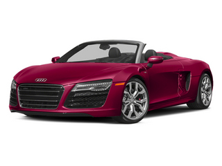 Brilliant Red/Black Roof 2014 Audi R8 Pictures R8 2 Door Convertible Quattro Spyder V8 (Manual) photos front view