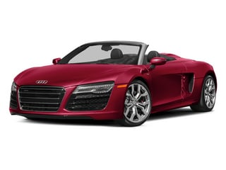 Brilliant Red/Black Roof 2014 Audi R8 Pictures R8 2 Door Convertible Quattro Spyder V8 (Auto) photos front view