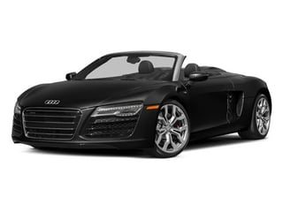 Phantom Black Pearl Effect/Black Roof 2014 Audi R8 Pictures R8 2 Door Convertible Quattro Spyder V8 (Manual) photos front view