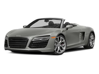 Suzuka Gray Metallic/Black Roof 2014 Audi R8 Pictures R8 2 Door Convertible Quattro Spyder V8 (Manual) photos front view