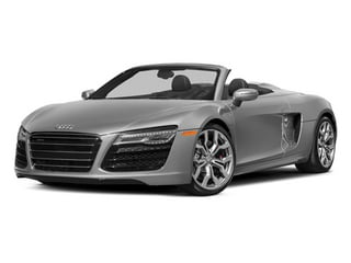 Ice Silver Metallic/Black Roof 2014 Audi R8 Pictures R8 2 Door Convertible Quattro Spyder V8 (Manual) photos front view