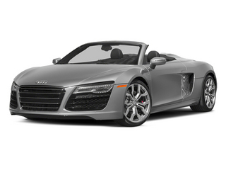 Ice Silver Metallic/Black Roof 2014 Audi R8 Pictures R8 2 Door Convertible Quattro Spyder V8 (Auto) photos front view