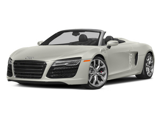 Ibis White/Black Roof 2014 Audi R8 Pictures R8 2 Door Convertible Quattro Spyder V8 (Manual) photos front view
