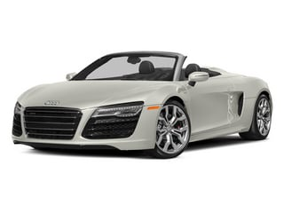 Ibis White/Black Roof 2014 Audi R8 Pictures R8 2 Door Convertible Quattro Spyder V8 (Auto) photos front view
