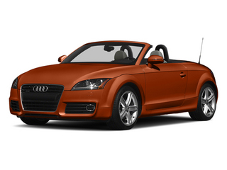 Volcano Red Metallic/Black Roof 2014 Audi TT Pictures TT Roadster 2D AWD photos front view