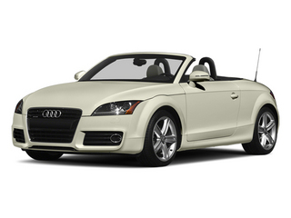 Glacier White Metallic/Black Roof 2014 Audi TT Pictures TT Roadster 2D AWD photos front view