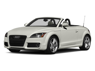 Ibis White/Black Roof 2014 Audi TT Pictures TT Roadster 2D AWD photos front view