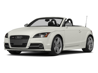 Ibis White/Black Roof 2014 Audi TTS Pictures TTS Roadster 2D AWD photos front view