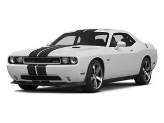 Bright White Clearcoat 2014 Dodge Challenger Pictures Challenger Coupe 2D SRT-8 V8 photos front view