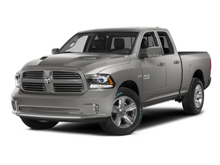 Bright Silver Metallic Clearcoat 2014 Ram 1500 Pictures 1500 Quad Cab Sport 4WD photos front view