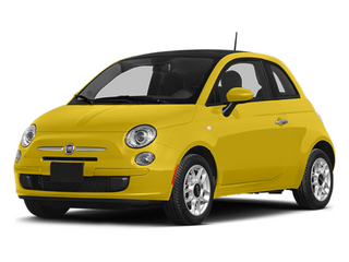 Giallo (Yellow) 2014 FIAT 500 Pictures 500 Hatchback 3D Pop I4 photos front view