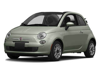 Verde Chiaro (Light Green) 2014 FIAT 500c Pictures 500c Convertible 2D Lounge I4 photos front view