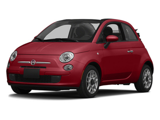 Rosso (Red) 2014 FIAT 500c Pictures 500c Convertible 2D Lounge I4 photos front view