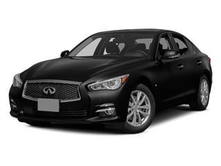Black Obsidian 2014 INFINITI Q50 Pictures Q50 Sedan 4D AWD V6 photos front view