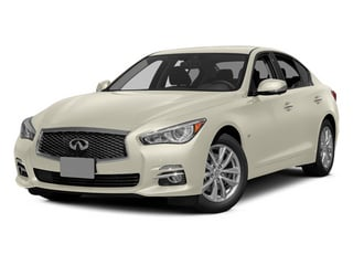 Moonlight White 2014 INFINITI Q50 Pictures Q50 Sedan 4D Premium V6 photos front view