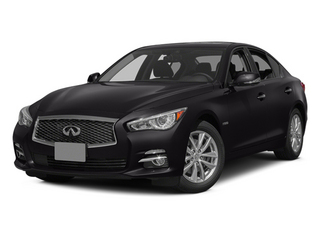 Malbec Black 2014 INFINITI Q50 Pictures Q50 Sedan 4D Premium V6 Hybrid photos front view