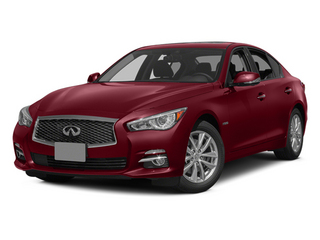 Venetian Ruby 2014 INFINITI Q50 Pictures Q50 Sedan 4D Premium V6 Hybrid photos front view
