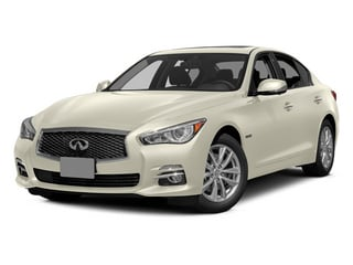 Moonlight White 2014 INFINITI Q50 Pictures Q50 Sedan 4D Premium V6 Hybrid photos front view