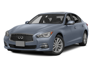 Hagane Blue 2014 INFINITI Q50 Pictures Q50 Sedan 4D Premium V6 Hybrid photos front view