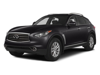 Malbec Black 2014 INFINITI QX70 Pictures QX70 Utility 4D AWD V8 photos front view
