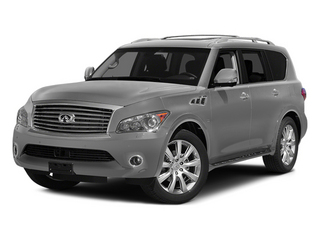 Liquid Platinum 2014 INFINITI QX80 Pictures QX80 Utility 4D 2WD V8 photos front view