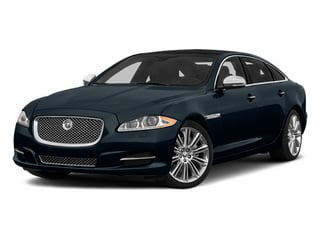 Dark Sapphire Metallic 2014 Jaguar XJ Pictures XJ Sedan 4D L Portolio V6 photos front view