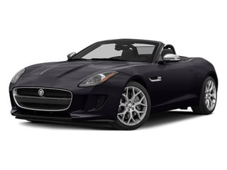 Ultimate Black Metallic 2014 Jaguar F-TYPE Pictures F-TYPE Convertible 2D V6 photos front view
