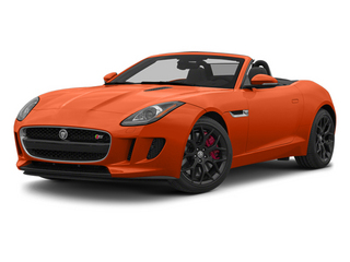 Firesand Metallic 2014 Jaguar F-TYPE Pictures F-TYPE Convertible 2D S V6 photos front view