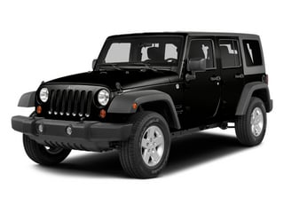 Black Clearcoat 2014 Jeep Wrangler Unlimited Pictures Wrangler Unlimited Utility 4D Unlimited Altitude 4WD V6 photos front view