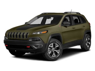 Eco Green Pearlcoat 2014 Jeep Cherokee Pictures Cherokee Utility 4D Trailhawk 4WD photos front view